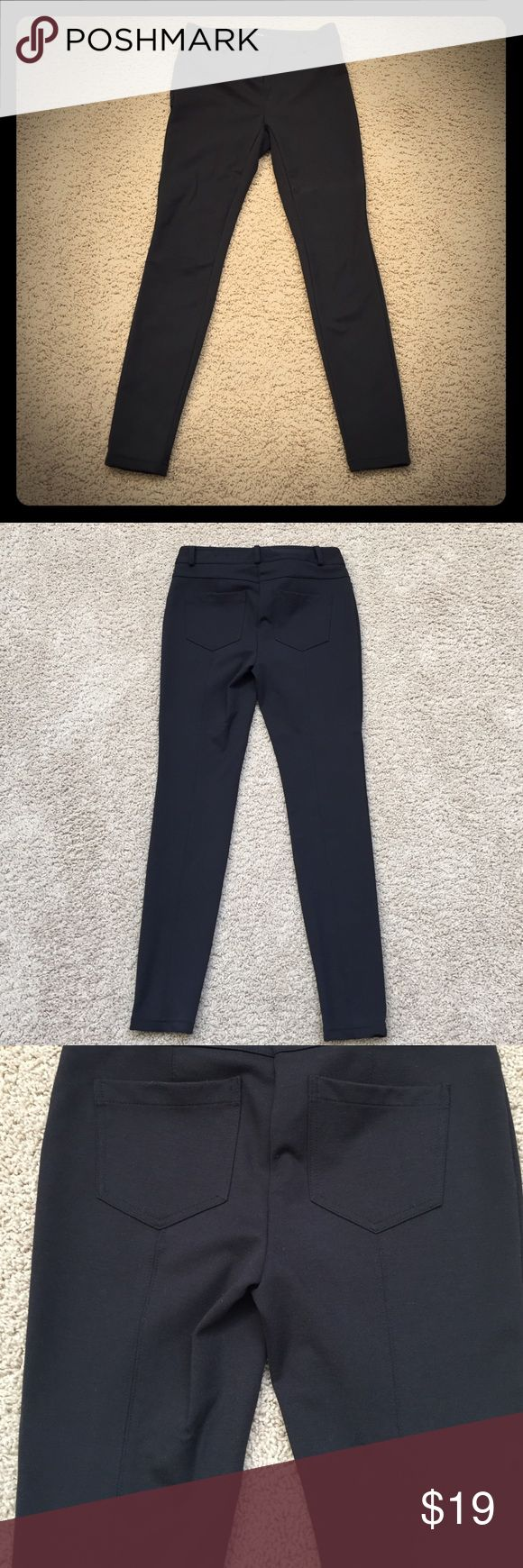 Black Style and Co pants Black Style & Co petite pants!  These pants are a fantastic material blend (72% polyester, 23% rayon, 5% spandex).  They have stylish pockets on the back and a line that goes down the middle of the back side of the pants.  They are in great condition! Style & Co Pants Skinny