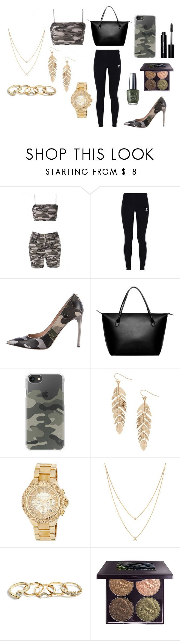 """how camo can you go?"" by santinadias ❤ liked on Polyvore featuring WithChic, adidas Originals, Valentino, The Row, Casetify, Humble Chic, MICHAEL Michael Kors, EF Collection, GUESS and Chantecaille"