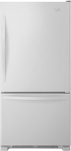 Whirlpool - 21.9 Cu. Ft. Bottom-Freezer Refrigerator - White-on-White