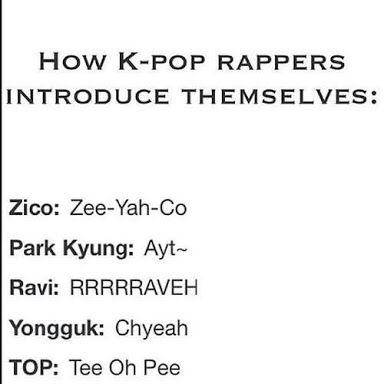 Lol Zico & Park Kyung (Block B), Ravi (VIXX), Yongguk (B.A.P) & T.O.P (BigBang) <3