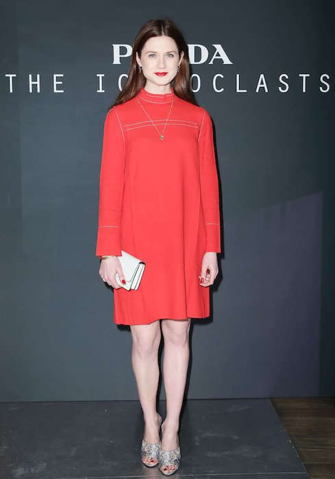 Bonnie Wright at Prada The Iconoclasts NYFW 2015...