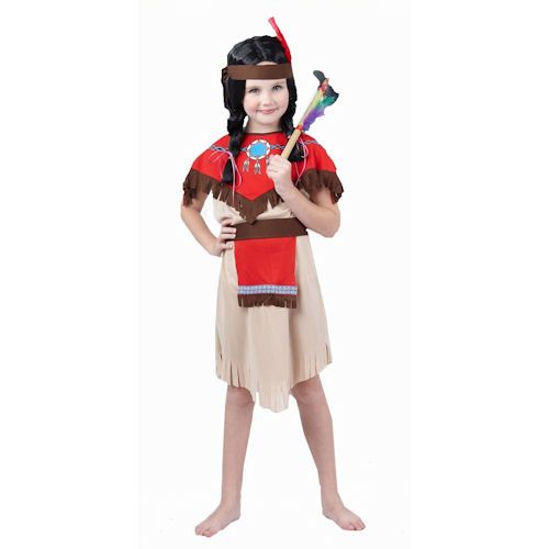 Girl's American Red Indian Fancy Dress Costume £8.99