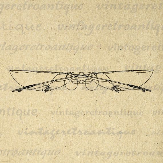 Fly Fishing Fishing Poles Digital Printable Image Graphic Download Vintage Clip Art Jpg Png Eps 18x18 HQ 300dpi No.2503 @ vintageretroantique.etsy.com