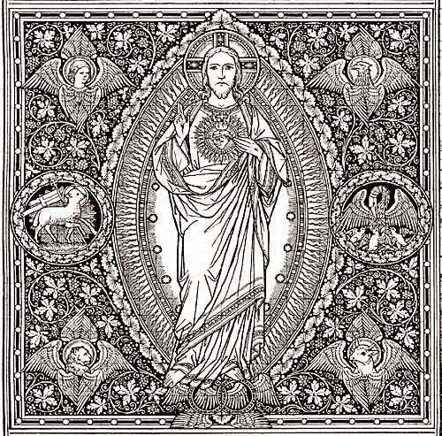 Image result for catholic line art, good shepherd