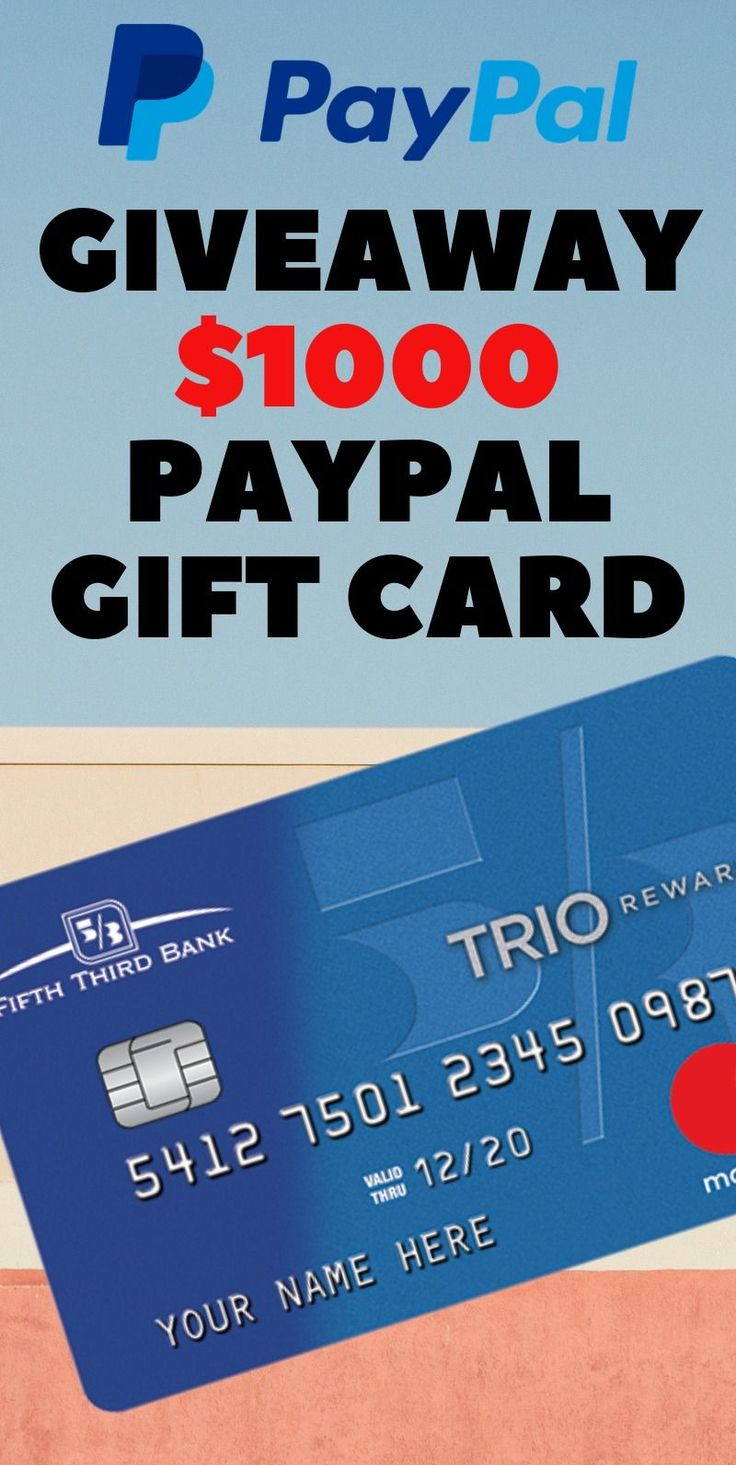 Get a 1000 paypal gift card giveaway paypal gift