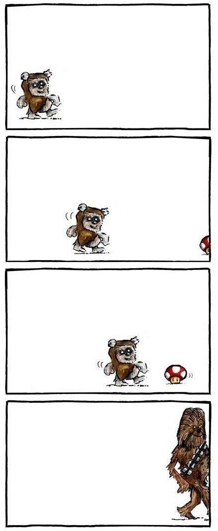 Ewok meets Nintendo.