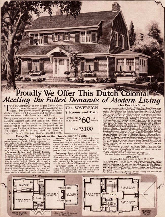 Montgomery ward 1930 house kit for the home pinterest for House plan kits