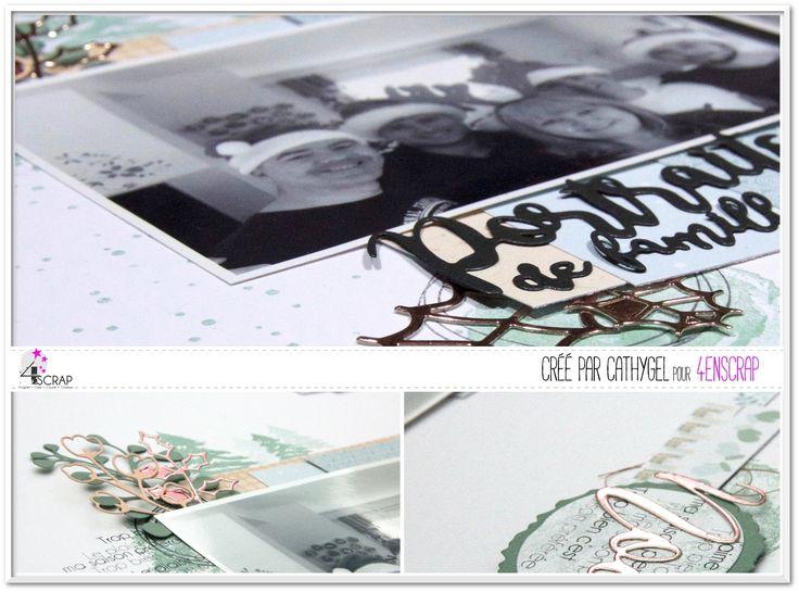 """Cathygel : Tampons et matrices de coupe (dies) #4enSCRAP """"Fonds aquarelle"""" & """"Gribouillis"""""""