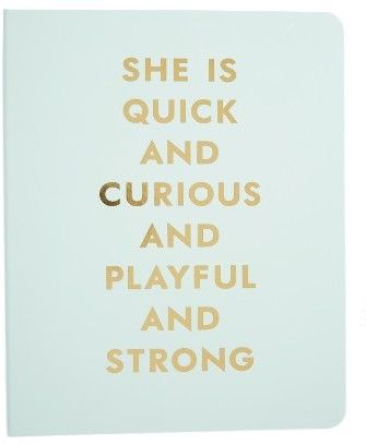 Kate Spade New York She Is Quick And Curious Spiral Notebook - [ad]