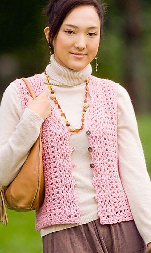 Ravelry:  Cute Vest pattern by Pierrot (free - crochet)