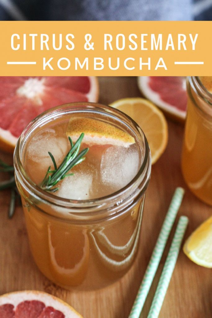 This homemade kombucha recipe is so delicious! Featuring grapefruit and rosemary, it's a tasty way to get your probiotics and improve your gut health.