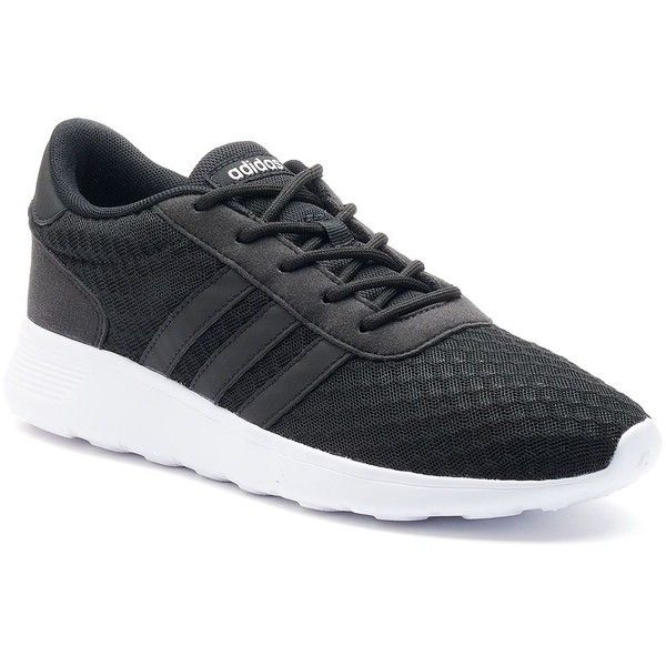 Adidas NEO Cloudfoam Lite Racer Women's Shoes ($65) ❤ liked on Polyvore featuring shoes, athletic shoes, black, black shoes, adidas athletic shoes, laced up shoes, athletic footwear and lightweight shoes