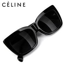 Celine Geo Square Black Frame CL41048 Kim Kardashian Big Sunglasses