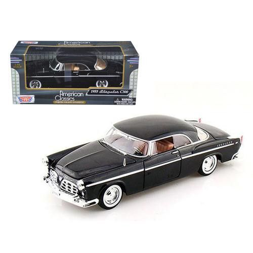 1955 Chrysler C300 Black 1/24 Diecast Model Car by Motormax
