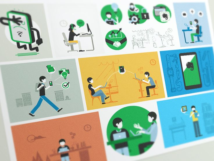 Communication Illustrations 3 by Carlos Rocafort for Evernote Design