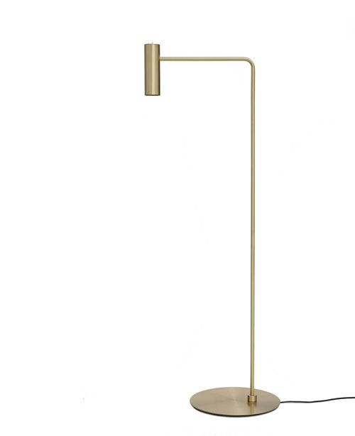 Floor Lamp 07890 with satin brass structure and moveable head