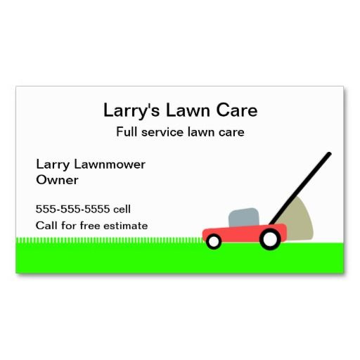 Lawn Service And Landscape: 10+ Images About Lawn Care Business Cards On Pinterest