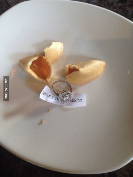 And she said yes! Awwww