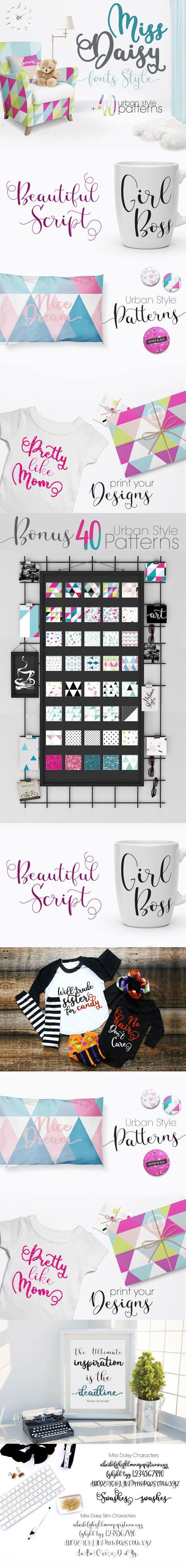 cursive fonts for wedding cards%0A Miss Daisy Fonts Patterns Freebies  Script Fonts