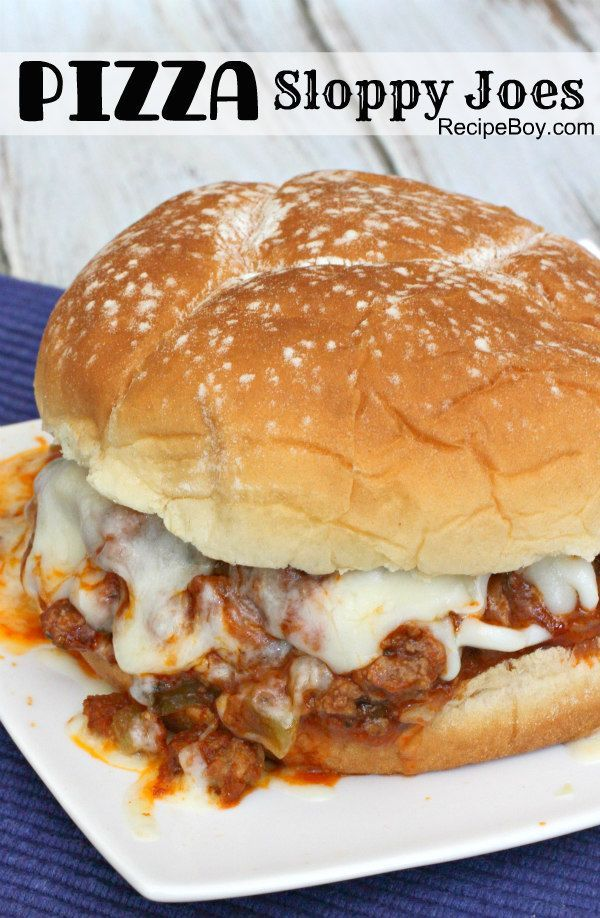Pizza Sloppy Joes Recipe - http://RecipeBoy.com
