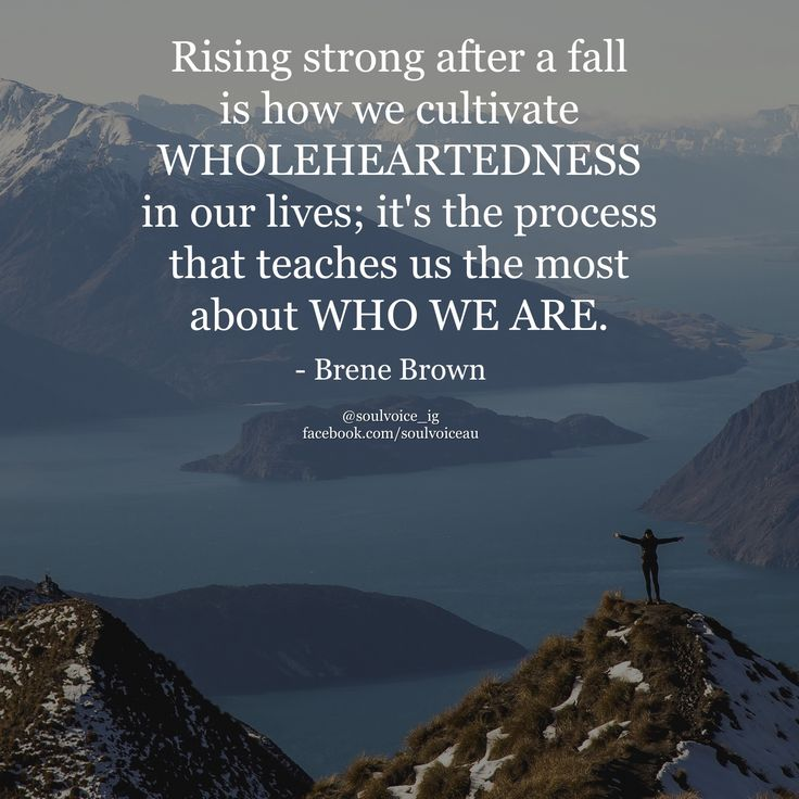 Rising strong after a fall is how