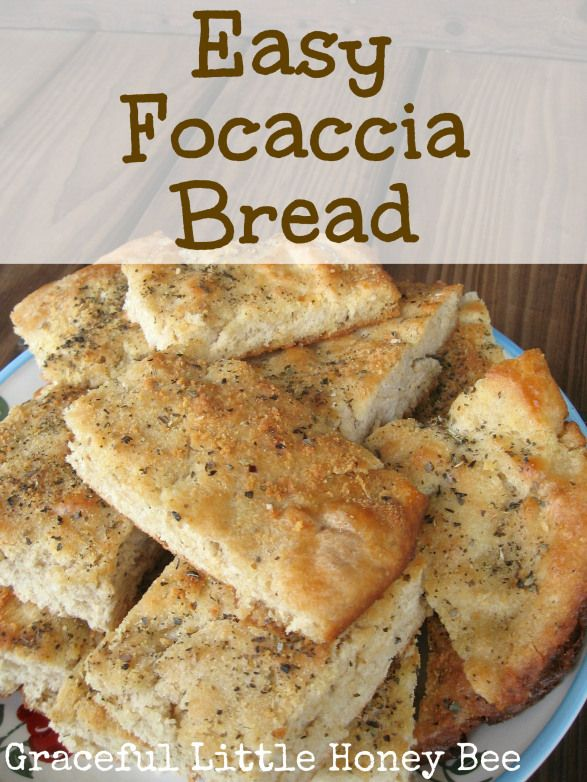 This easy focaccia bread recipe is easy and so good!  Comments: easy and quick to make, delicious cooked product with just herbs or fully loaded
