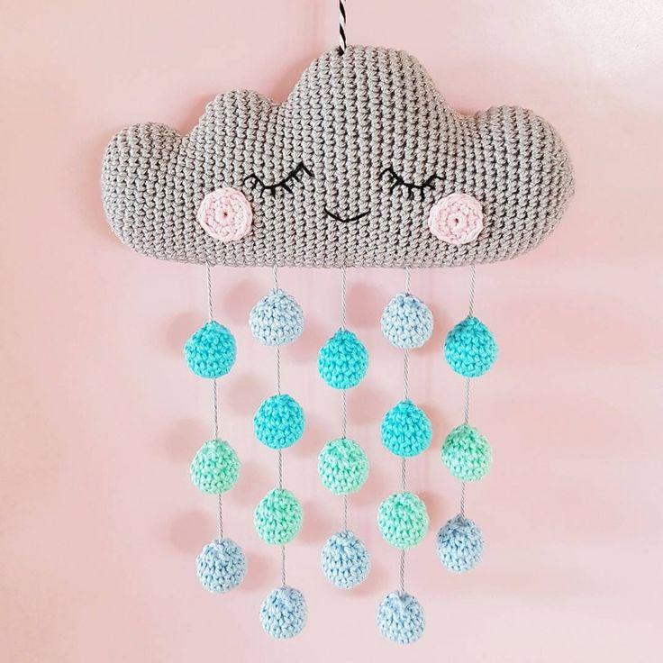 Cloud Mobile crochet by Super Cute Design