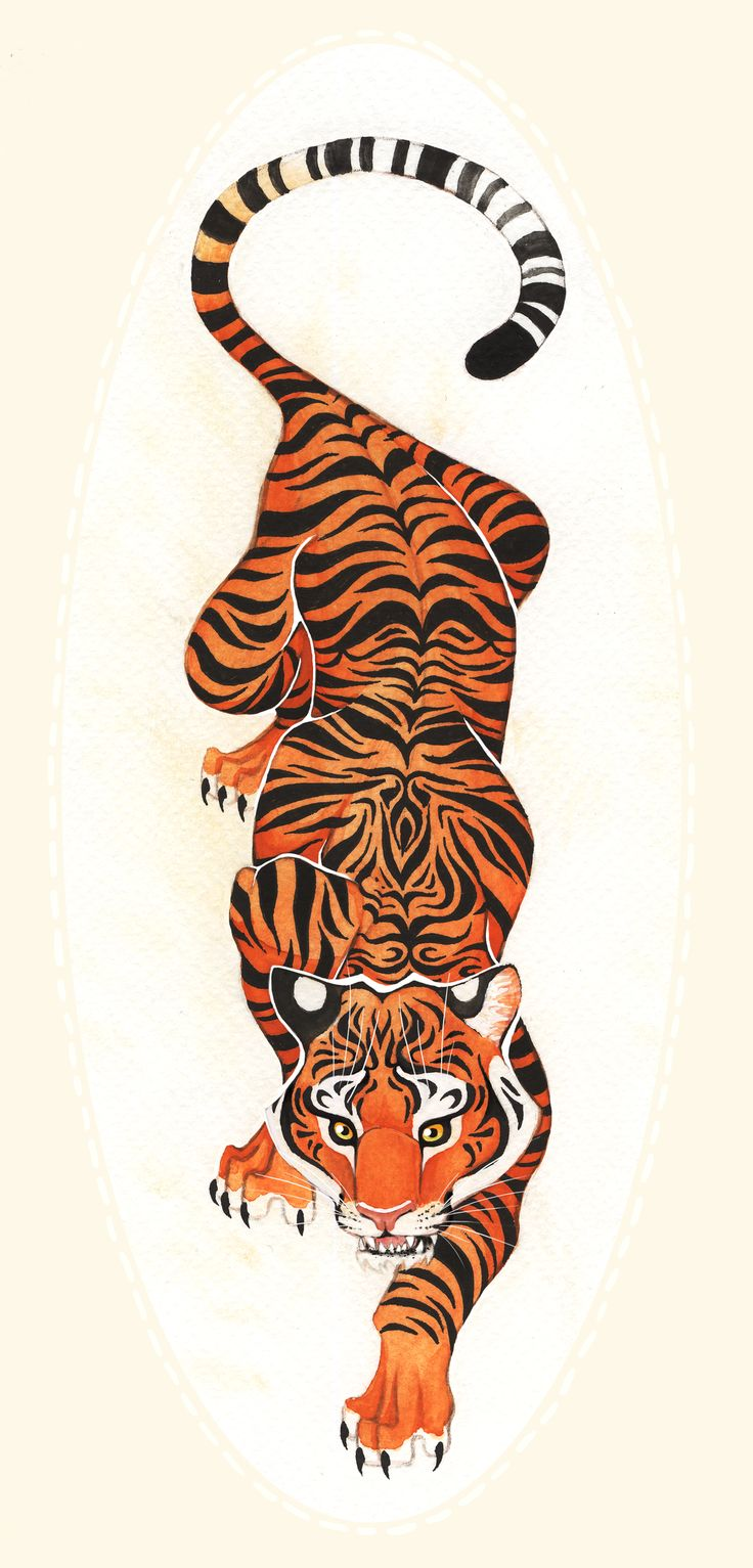 Crawling Tiger Tattoo Tiger Tattoo Design by                                                                                                                                                                                 More