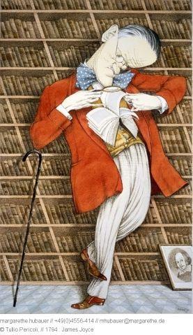 1987 // 1794 : James Joyce - Tullio Pericoli