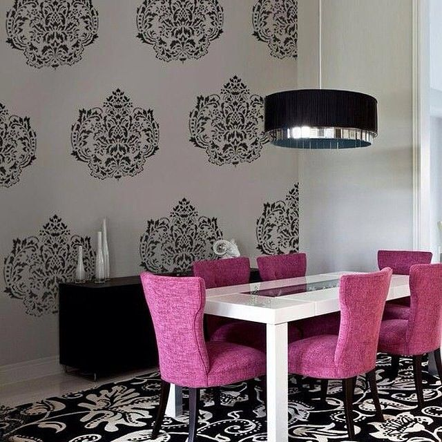 Black And White Dining Room Chairs: 1000+ Ideas About Pink Dining Rooms On Pinterest