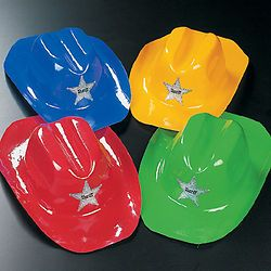 Pretend Play and Preschool 51028: 36 Plastic Cowboy Hats Bulk Wholesale Free Ship -> BUY IT NOW ONLY: $42.95 on eBay!