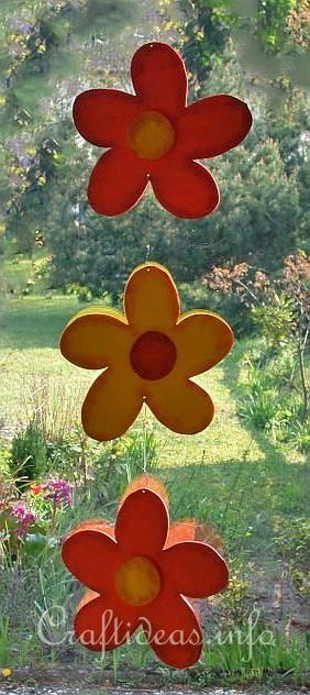 Wood Crafts with free Patterns - Scrollsaw Project - Wooden Flower Chain Decoration