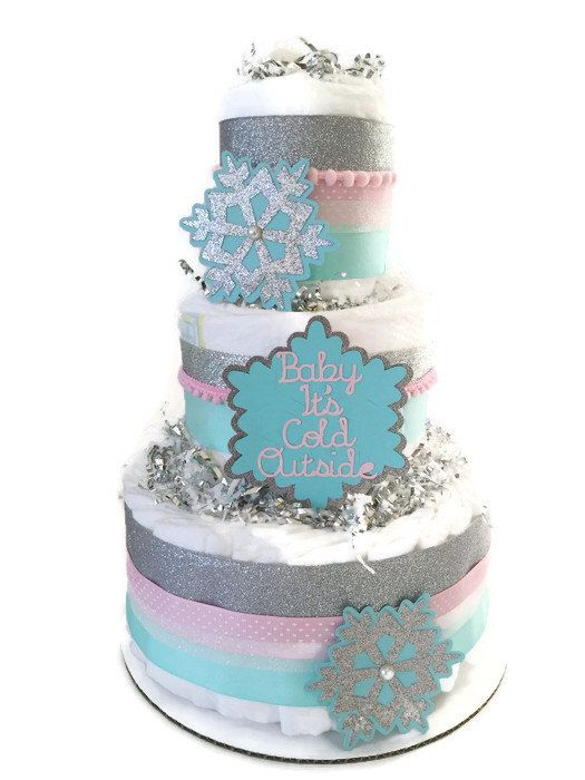 Baby Itu0027s Cold Outside Diaper Cake, Centerpiece, Winter Baby Shower By  AllDiaperCakes On Etsy