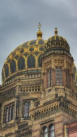 dome of the neue synagoge in berlin. Black Bedroom Furniture Sets. Home Design Ideas