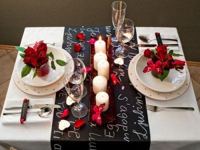 Como arrumar uma mesa para um jantar a dois 2