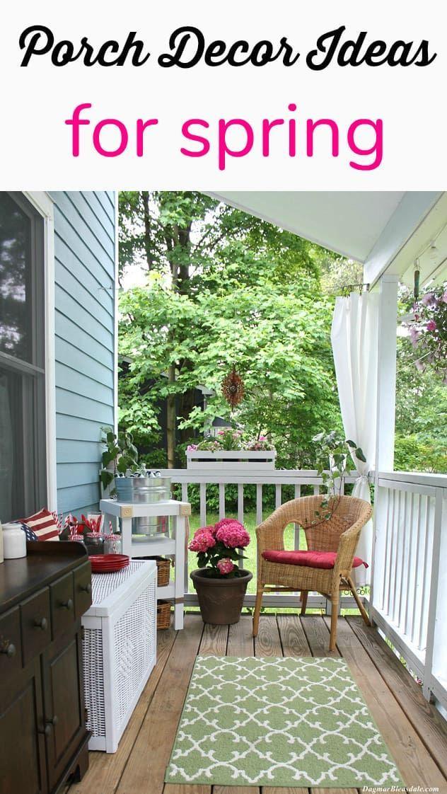 7 porch decorating ideas for spring home improvement real estate rh pinterest com
