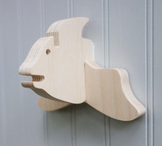 Key hook - Fish wall hanger for keys, glasses, and sunglasses - wooden…