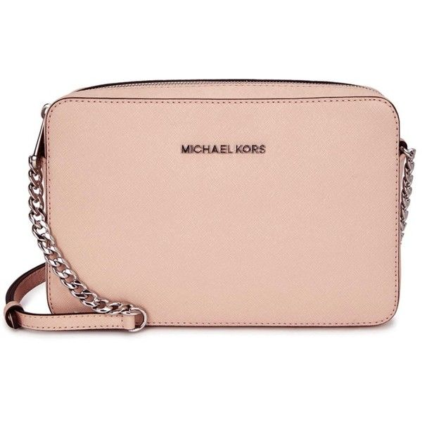 Womens Cross-body Bags Michael Kors Jet Set Blush Cross-body Bag ($225) ❤ liked on Polyvore featuring bags, handbags, shoulder bags, purses, mk, purse crossbody, shoulder handbags, pink shoulder bag, purse shoulder bag and handbags purses
