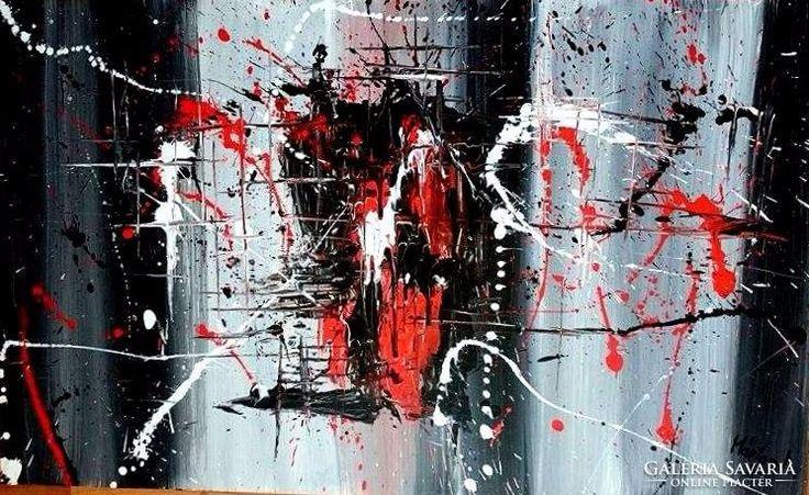 70 x 50- absztrakt  festmény
