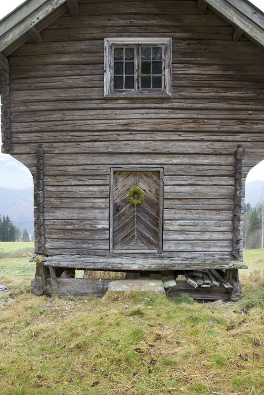 a Norwegian Stabbur (food storage)--note the legs to keep vermin out!
