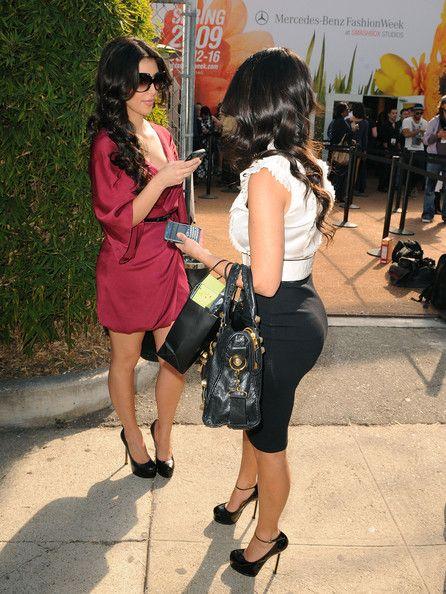 Kim Kardashian and Kourtney Kardashian Photos: Around Smashbox Studios - MBFW - Day 3