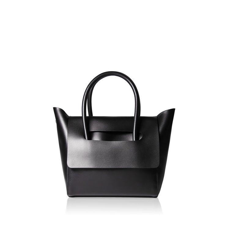 Mini Flap Closure Handbag - Black