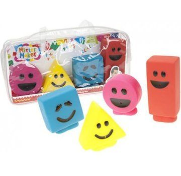 MISTER MAKER BATH SQUIRTER SHAPES FULL SET IN A PLASTIC CARRY CASE