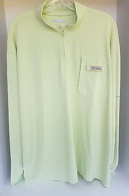 Men's Columbia Sportswear Omni Shield PFG Green Track Fishing Jacket XL