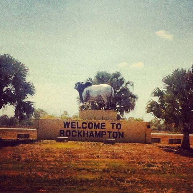 Big thing: The big bull welcoming you to Rockhampton