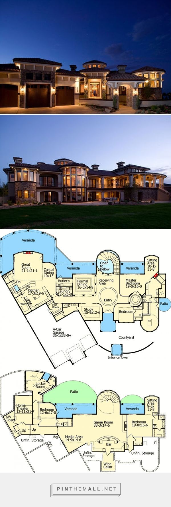 7805 sq ft Mediterranean Dream Home Plan