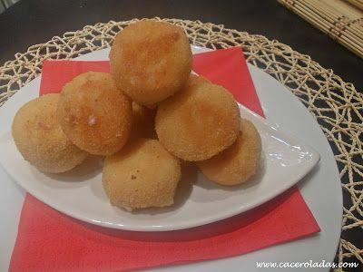 Caceroladas: Bolitas de patata con jamón y queso