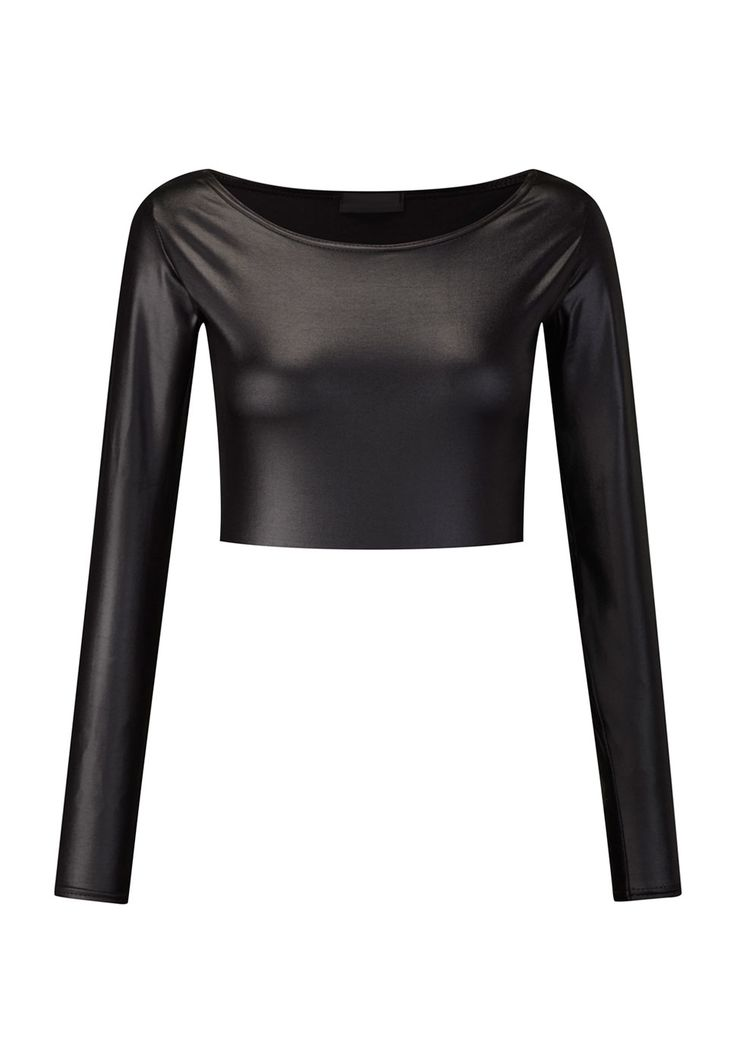Todays Offer at JUST £3.99! Ula Wet Look Crop Top