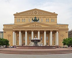 05-2012 Moscow UNESCO World Heritage Site Bolshoi Theater after renewal.