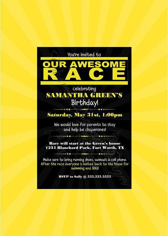 Amazing Race Party Invitation | Invitationswedd.org